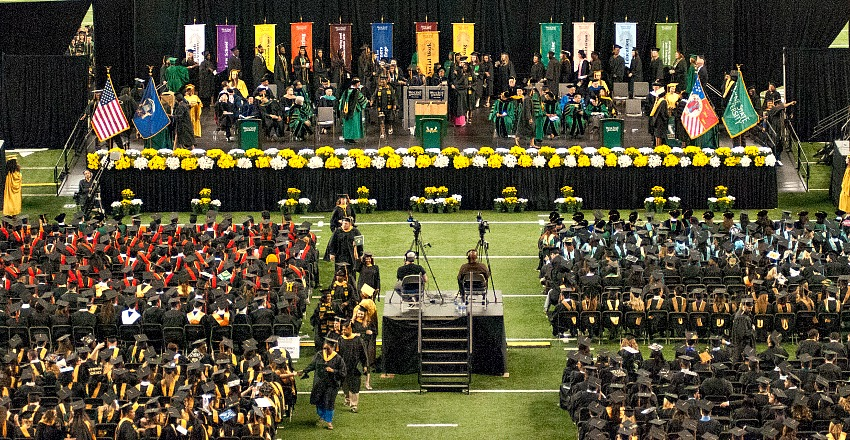 Wayne State University commencement ceremonies celebrate class of 2017, May 9-10