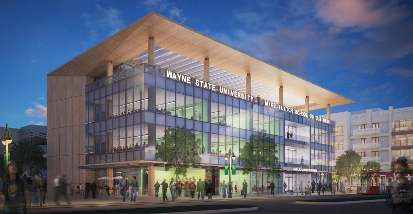 Groundbreaking ceremony for Wayne State University's Mike Ilitch School of Business launches new era of business education in Detroit